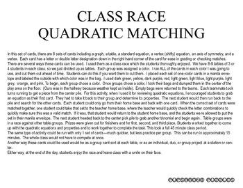Class Race - Quadratic Matching - PP