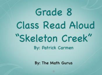 "Class Read Aloud/Novel Study - ""Skeleton Creek"" by Patrick Carmen"