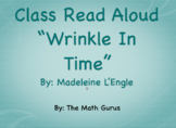 "Class Read Aloud/Novel Study ~ ""Wrinkle In Time"" (graphic novel)"