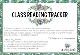 Class Reading Tracker Posters