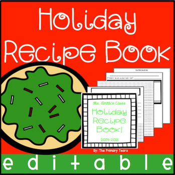 Class Recipe Book - editable