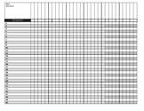 Class Record Sheet