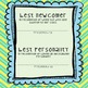 Class Records Book: Celebrating Students at the End of the Year