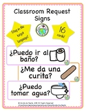 Class Requests Signs Hall Passes Printable Spanish Resources