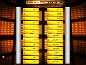 Class Review Game Deal or No Deal, Works with any Content