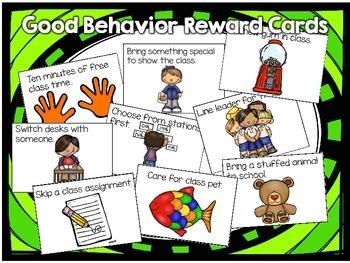 Class Reward Cards