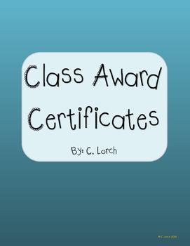 Class Reward Certificates