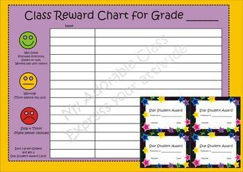 Class Reward Chart - Behaviour Chart