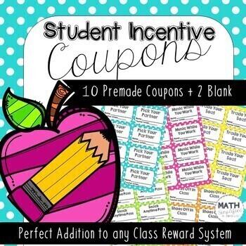 Class Reward Coupons: Student Incentives