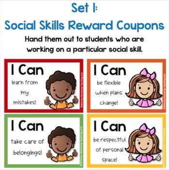 Class Reward Coupons (Classroom Management and Social Skills) EDITABLE