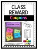 Class Reward Coupons (EDITABLE)