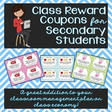 Class Reward Coupons for Secondary Students