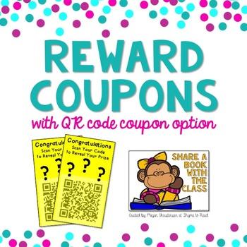 Class Reward Coupons with QR Code Option