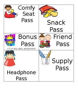 Class Reward Passes - Editable