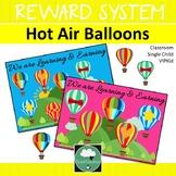 Class Reward System HOT AIR BALLOONS Classroom Management