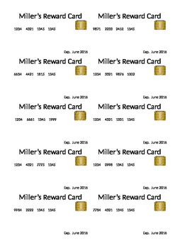 Class Reward credit Cards