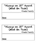 Class Awards (Basic Format)
