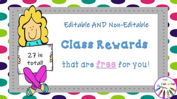 Editable and Non-Editable Class Rewards that are FREE for You!