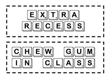Class Rewards (Scrabble Style)
