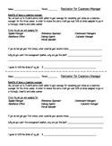 Class Roles Application.