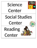 Class Room Center Signs