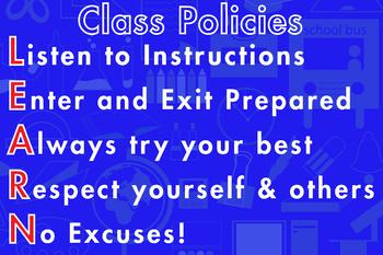 Class Room Policies Blue