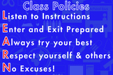 Class Room Policies Blue