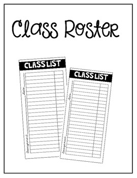 Class Roster