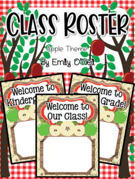 Class Roster (Apple Theme)