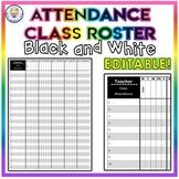 Class Roster Attendance Sheet