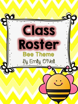 Class Roster (Bee Theme)