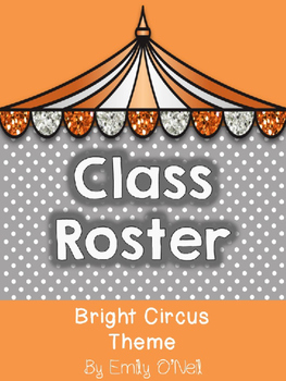 Class Roster (Bright Circus Theme)