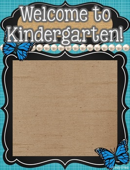Class Roster (Butterfly, Blue, Black & Burlap Theme)