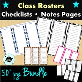 Class Roster Bundle - Checklist - Notes Pages - RTI - Pres
