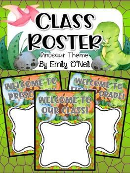 Class Roster (Dinosaur Theme)