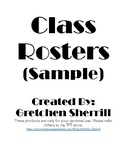Class Roster Sheets - SAMPLE