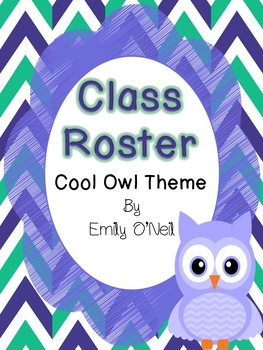 Class Rosters (Owl Theme)