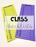 Class Rosters and Checklists