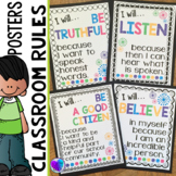 Classroom Rules Poster Set (Class Rules)