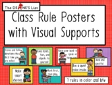 Class Rule Posters with Visual Supports