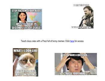 Class Rule Prezi with Memes