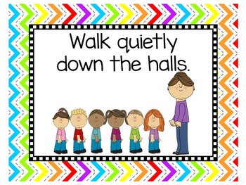 Rainbow Theme Classroom | Class Rules Posters | Rainbow Themed