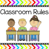 Rainbow Theme Classroom Rules