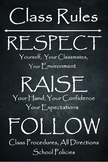 """24"""" x 36"""" Class Rules Poster"""