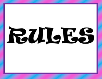 Class Rules 7 Posters