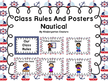 Class Rules And Posters (Nautical Border)