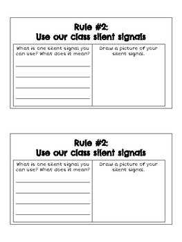 Class Rules Book for Students