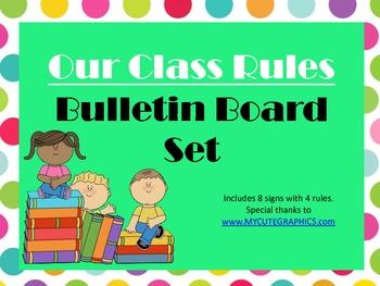 Class Rules Bulletin Board Set (polka dots)