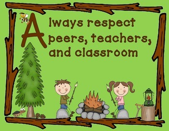 Class Rules Camping Theme