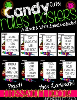 Classroom Rules Candy Theme